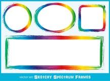 Marcos incompletos del espectro ilustración del vector