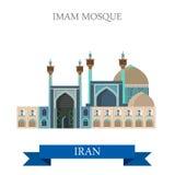 Marcos lisos da atração do vetor de Shah Mosque Iran da imã ilustração do vetor