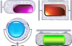 Marcos metálicos. ilustración del vector