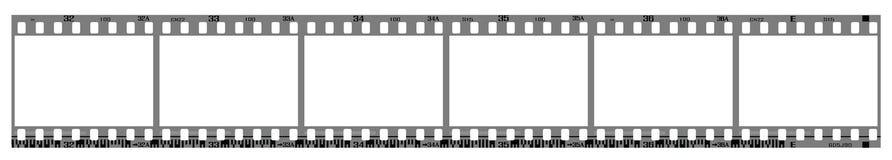 Marcos negativos del filmstrip Imagen de archivo libre de regalías