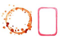 Marcos o impresiones artísticos de la acuarela Foto de archivo libre de regalías