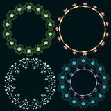 Marcos ornamentales ilustración del vector