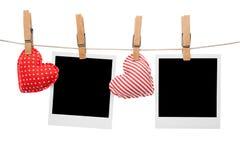 Marco en blanco de la polaroid del amor Imagen de archivo libre de regalías