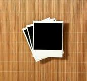 Marcos polaroid en blanco de la vendimia Foto de archivo libre de regalías