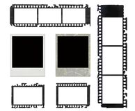 Marcos polaroid y conjunto de la película negativa del grunge Fotos de archivo
