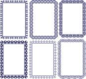 Marcos rectangulares Foto de archivo