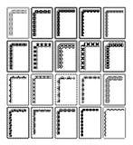Marcos rectangulares Imagen de archivo libre de regalías
