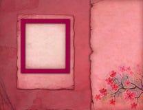 Marcos rosados de la foto Foto de archivo