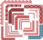Marcos - sistema de los modelos de la esquina para la puntada del bordado Foto de archivo libre de regalías