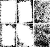 Marcos sucios del vector Imagenes de archivo