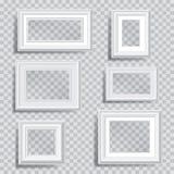Marcos transparentes blancos stock de ilustración