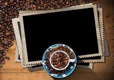 Marcos vacíos de la foto para un café Foto de archivo libre de regalías
