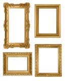 Marcos vacíos de Picure del oro detallado de la vendimia Imagen de archivo libre de regalías
