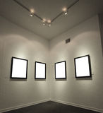 Marcos vacíos en la pared Imagen de archivo libre de regalías