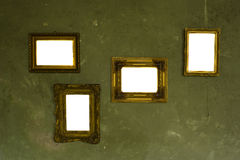 Marcos vacíos en la pared Fotografía de archivo