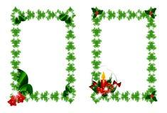 Marcos verdes de la Navidad Imagen de archivo
