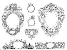 Marcos victorianos del estilo ilustración del vector