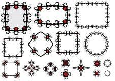 Marcos y componentes de Goth Imagen de archivo