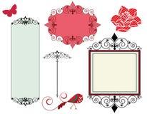 Marcos y elementos del diseño Imagen de archivo libre de regalías