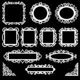 Marcos y esquinas ornamentales Foto de archivo libre de regalías