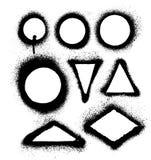 Marcos y fronteras de la pintura de espray de aerosol Imagenes de archivo