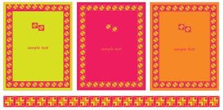 Marcos y fronteras decorativos Foto de archivo