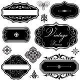 Marcos y ornamentos de lujo de la vendimia Imagen de archivo