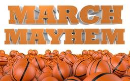 Marcowy chaos szkoły wyższa koszykówki turniej Obraz Stock