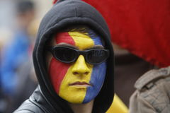 Marcowy zrzeszeniowy Rumunia i Moldova Obrazy Stock