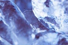 Marcro dos cubos de gelo Foto de Stock