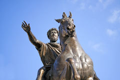 Marcus Aurelius ancient roman Emperor, Rome, Italy Royalty Free Stock Photo