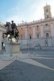 Marcus Aurelius in Campidoglio in Rome, Italië Royalty-vrije Stock Afbeelding
