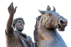 Marcus Aurelius at the Campidoglio in Rome, Italy Stock Photo