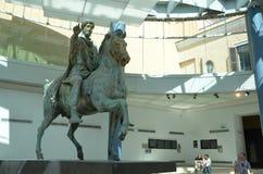 Marcus Aurelius Emperor. This statue represents imperator of ancient Rome Marcus Aurelius, located in Musei Capitolini, Rome Stock Photo