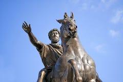 Marcus Aurelius forntida roman kejsare, Rome, Italien Royaltyfri Foto