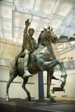Marcus Aurelius no museu, Roma. Imagens de Stock