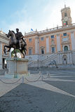 Marcus Aurelius på Campidoglioen i Rome, Italien Royaltyfri Bild
