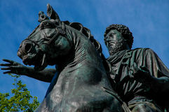 Marcus Aurelius statue at Brown University Stock Image