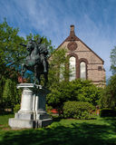 Marcus Aurelius statue at Brown University Stock Photos