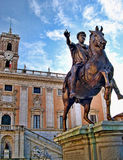 Marcus Aurelius Statue on the Capitoline Hill of Rome Italy Stock Photography