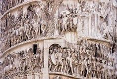 Marcus Aurelius szpaltowy szczegół Rzym, Włochy (-) zdjęcie stock