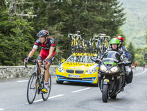 Marcus Burghardt sur Col du Tourmalet - Tour de France 2014 Photos libres de droits