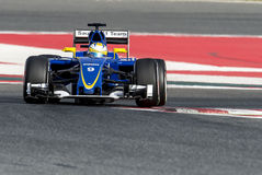 MARCUS ERICSSON (SAUBER) - F1 TEST Royalty Free Stock Photography