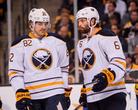 Marcus Foligno and Mike Weber, Buffalo Sabres Stock Images
