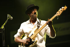 Marcus Miller. ISTANBUL - JULY 7: Bass guitarist Marcus Miller played at the Cemil Topuzlu Open Air Theater, July 8, 2009, in Istanbul, Turkey Stock Photography