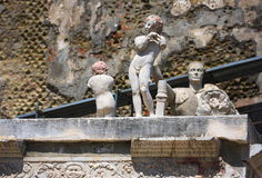 Marcus Nonius standbeeld-iii-Herculaneum-Italië Royalty-vrije Stock Foto