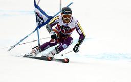 Marcus Sandell  2015 World Cup in Meribel Stock Image