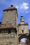 Marcus Tower dans le der Tauber d'ob de Rothenburg Photographie stock libre de droits