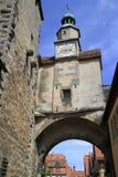 Marcus Tower no der Tauber do ob de Rothenburg Fotos de Stock Royalty Free