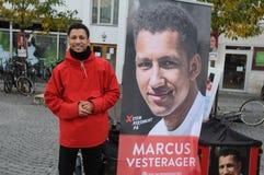 MARCUS VESTERAGER_SOCIAL DEMOKRATA kandydat Fotografia Stock